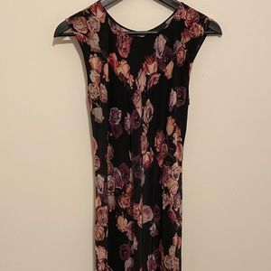 Aritzia wilfred floral silk dress size 2 preowned